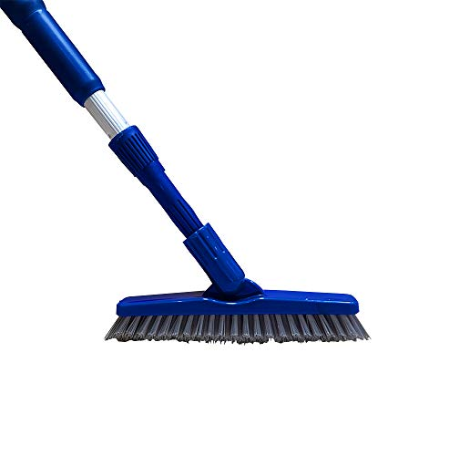Bring It On Grout Brush Cleaner and Tile Scrubber with Lightweight Extension Pole | Clean Stained Grout Lines in Shower, Bathroom, Tile Floor | Surface Scrubber for Tight Spaces