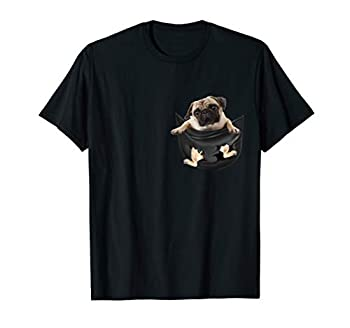 Pug In Pocket Funny Dog Lovers Costume Gifts T-Shirt
