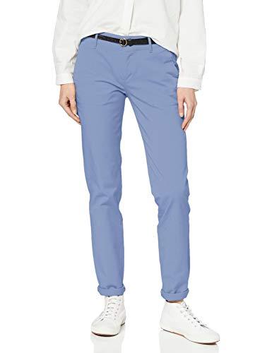 Scotch & Soda Maison Damen Slim fit Chino Hose, Blau (Lavender Blue 3524), 32W / 32L