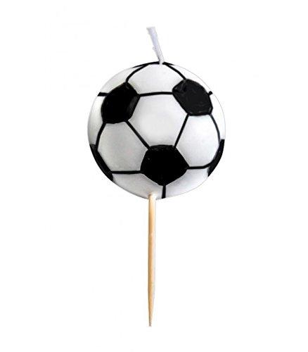 Ibili 786206 - Candela a forma di pallone da calcio, 4 cm diametro