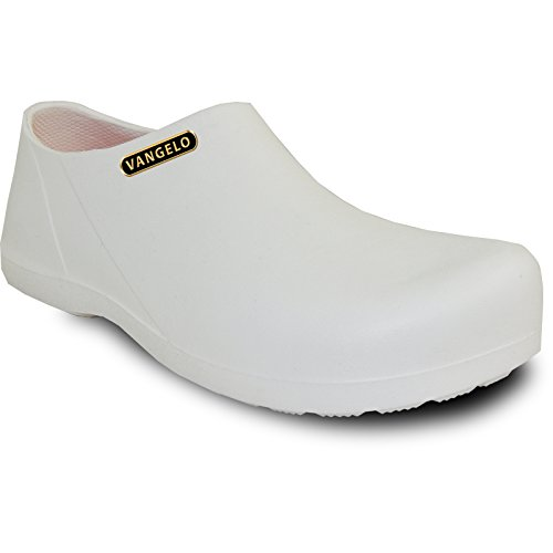 VANGELO Professional Slip Resistant Clog Men Work Shoe Nurse Shoe Chef Shoe Carlisle White Men Size 8