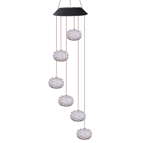 happygirr Lámpara solar LED con forma de carillón de viento, lámpara de cambio de color, resistente al agua, para exteriores, jardín de casa, decoración del patio