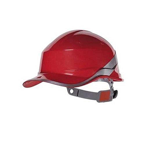 Die Fashion City® Diamond Delta Plus Hi-Vis Baseball Sicherheit Helm, Safty Helmet, Rot