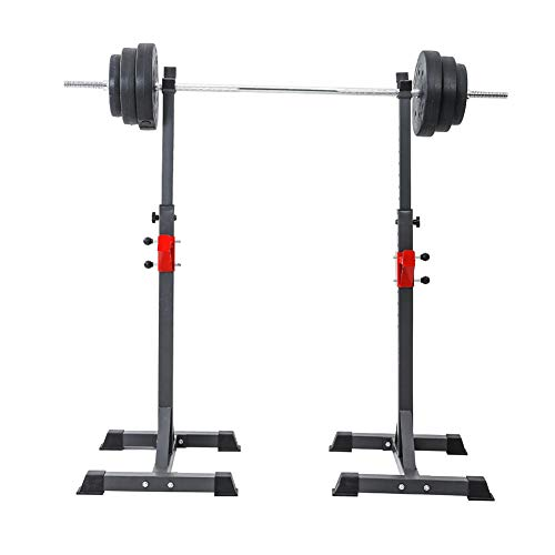 EFGS Adjustable Weight Lifting Stand, Portable Squat Rack, Sturdy Durable Barbell Stand