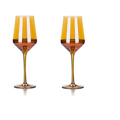 Set de navidad copa de cristal copa de vino tinto arco iris copa 2 Pack copa de vino en forma de U-C