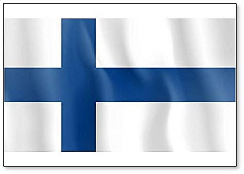 Kühlschrankmagnet, Motiv Flagge der Waving, Finnland