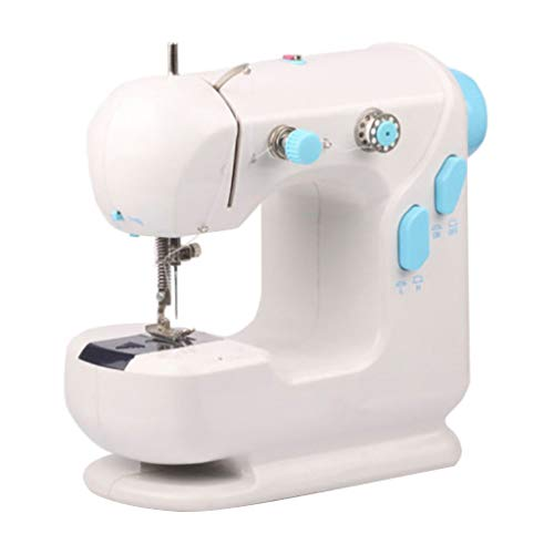 Portable Sewing Machine Free Arm Best Mini Sewing Machine for Beginners Best Gift For Family Sewing Clothes Handheld Sewing Machine Double Speed Double Threads
