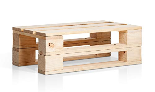 SUENOSZZZ-ESPECIALISTAS DEL DESCANSO Mesa de Jardin de palets Madera. para Conjuntos de Muebles de Jardin, mesita de Centro para Exterior. Palet de Madera