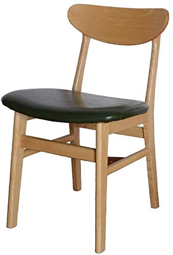 NUANYANG Dining Chair Dining Chair, Simple Desk Chair, Creative Backrest, Leisure Chair, Home Adult Dining Chair (Color : Dark Green)