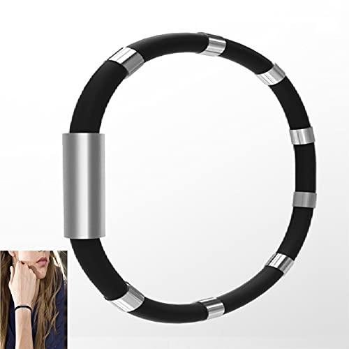 XTONG Athletic Ion Balancing Bracelet, Anti-Static Bracelet Wrist Straps Band Rubber Bracelets, Negative Ion Bracelet Silicone Wristband,Reusable Eliminate Body Static For Women Men 20cm D1