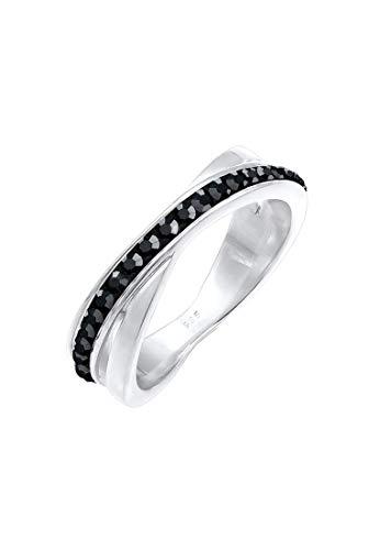 Elli Ring Damen Wickelring mit Swarovski Kristallen in 925 Sterling Silber