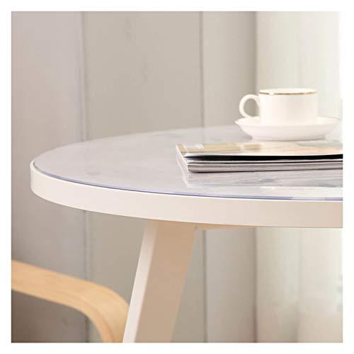 GHHZZQ Redondo Mantel Transparente Alta Transparencia Textura Suave el plastico Protector Mesa Hogar Oficina, 1,5/2,0/3,0mm de Espesor, Tamaño múltiple (Color : 1.5mm, Size : Diameter-120CM)