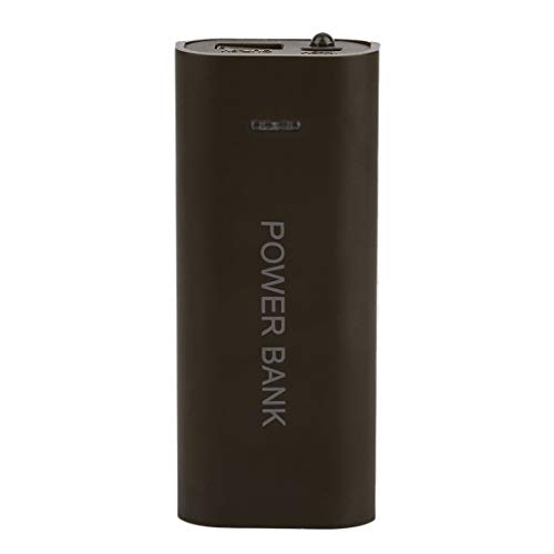 Opcional USB Mobile Power Bank Funda Funda Nuevo portátil 5600mAh Cargador de batería Externo Powerbank Funda - café