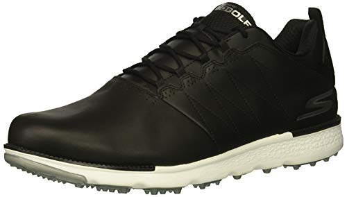 Skechers Men's Go Golf Elite 3 Golf Shoe,Black/White,7.5 M US