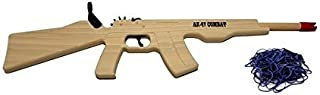 Rubber Band Gun AK-47 Combat Rifle, Solid Wood with Rubberband Ammo for Target Practice Made in USA