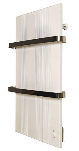 Finesa Badheizkörper-Handtuchwärmer-Elektrischer,Wärmeabgabe 400-750 W,Termostat,Handtuchtrockner,Handtuchhalter (1000x558, Weiß)***** 5 Jahre GARANTIE *****