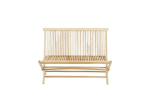 Ploß Outdoor furniture Milford Klappbank, Eco Teak Natur, 120 x 60 x 90 cm