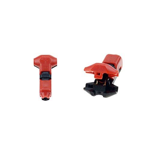 Kit de conectores de encogimiento de calor 5PCS tipo H T 1PIN 2P Scotch bloqueo rápido empalme conectores de cables terminales a presión for Car Audio Set 24-18AWG alambre 4.8 Terminales de tierra
