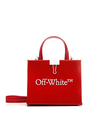 Luxury Fashion | Off-white Dames OWNA059S20LEA0012501 Rood Leer Handtassen | Lente-zomer 20