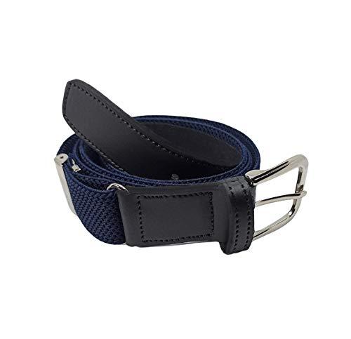 FIONCCI Cinturón Hombre Elástico con Caja de Regalo de Madera - Longitud Ajustable