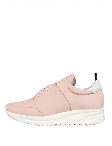 Jim Rickey Women's Could Runner Leather Sneakers Pink in Size 40