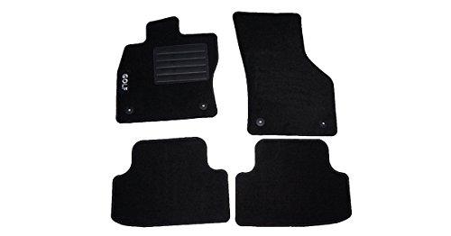 Carmats Tapis de sol sur mesure pour Golf Série 7 en moquette avec seuil de porte et fixation
