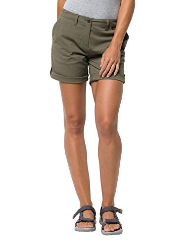 Jack Wolfskin Damen Shorts Desert, Woodland Green, 40, 1505311