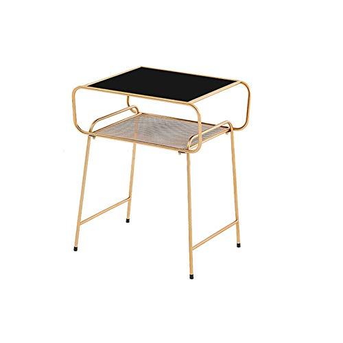 YAOLUU Tavolo da Soggiorno Tavolino in Metallo Elegante tavolino da Letto Moderno della Camera da Letto della Camera da Letto di casa Minimalista Tavolino Moderno (Color : Black)