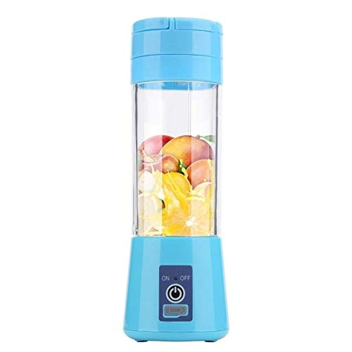 LNLW Portable Personal Blender, vacuüm Oxidatieweerstand Juicer, Smoothie En Shake Mixer Travel Outdoor Camping (Color : Blue, Size : 4 blades)