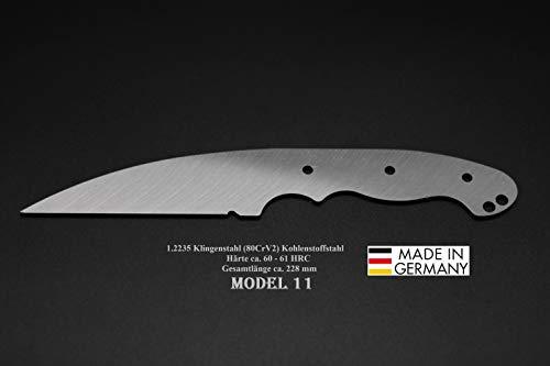 Rohling Messer Model 11 / 228mm Poliert Messerbau Messerstahl Messerklinge Klingenrohling Jagdmesser