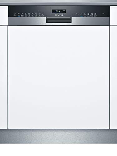 Siemens SN55ZS49CE iQ500 Teilintegrierter Geschirrspüler / C / 75 kWh / 14 MGD / Zeolith Trocknung / Smart Home kompatibel via Home Connect / glassZone im Oberkorb