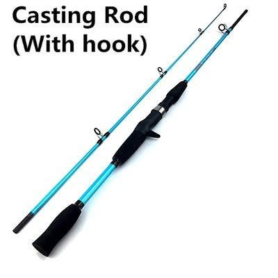 Señuelo 1,5M 1,8M M Power Varilla de fundición Spinning Peso 3g-21G Ultra Barco Ligero señuelo de la caña de Pescar (Color : Blue, tamaño : 1.8 m)
