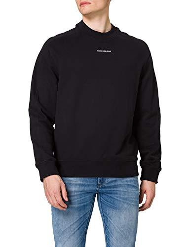 Calvin Klein Jeans Unisex Micro Branding Cn Marca, CK Negro, XL para Hombre