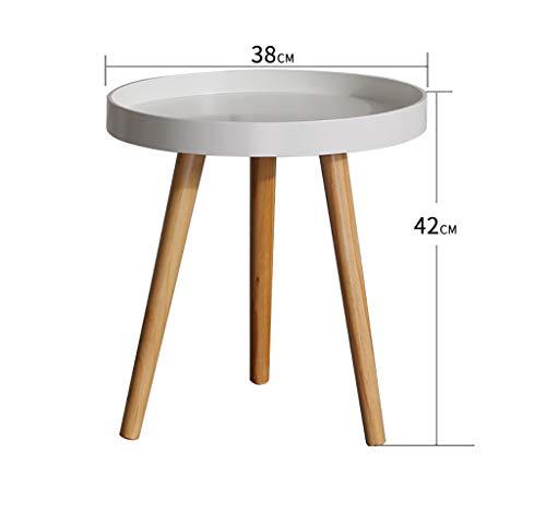 YWXCJ Tables Basses Nordic Petite Table Ronde canapé côté Chambre Chevet Mini Coin Mobile Salon Moderne créative Simple Table Basse (Couleur : Blanc, Taille : 50x50cm)