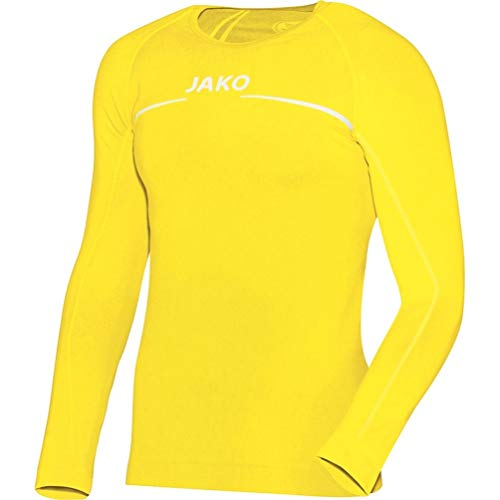 JAKO Longsleeve Comfort - Herren Langarmshirt,gelb (citro), M