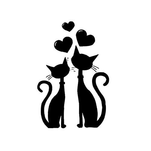 TOPofly 2 Katzen Liebes-Muster-Wand-Aufkleber Kreative Kunst-Aufkleber Removable Abziehbilder für Wohnzimmer Hauptdekoration für Convenience