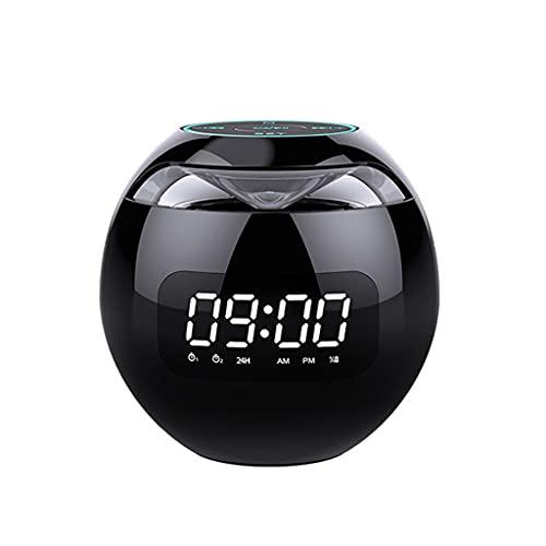 Yousiju Smart Alarm Clock LED Reloj Digital Smart Bluetooth Speaker Bluetooth 5.0 FM Radio Colorful Light TF Tarjeta MP3 Music Play
