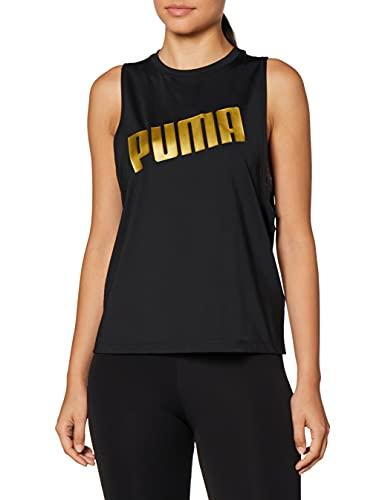 PUMA Metal Splash Adjustable Tank Camiseta, Mujer, Black, M
