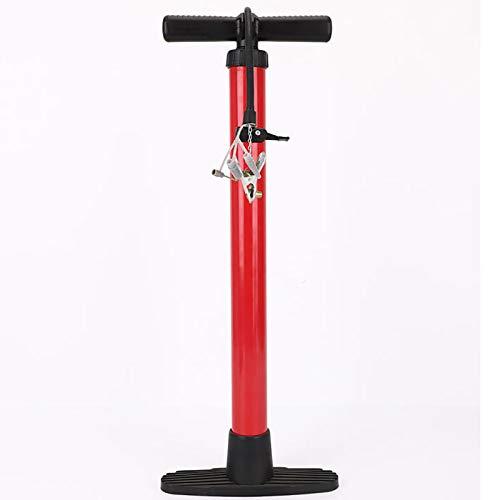 Bomba para bicicleta Bomba de bicicleta de aleación de aluminio de alta presión creativa bomba de solo tubo de suelo para bicicleta, fútbol, baloncesto ( Color : Rojo , Size : 4.5x50cm )