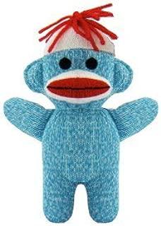 Schylling Teal Blue Sock Monkey Baby