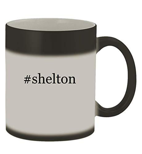 #shelton - 11oz Hashtag Magic Color Changing Mug, Matte Black