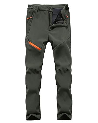 Hombre/Mujer Impermeable Pantalones Softshell Forro Polar cálido Pantalones de Invierno Pantalones de Escalada Deportes Calentar Grueso Táctico Pantalones