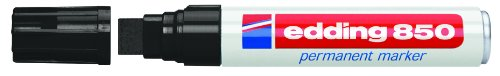 Edding Super Jumbo 5Stück Permanentmarker Rundspitze, 5bis 16mm schwarz