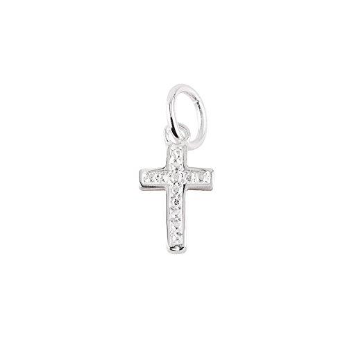Get2trade Collana con Ciondolo a Forma di Croce, per Comunione, Battesimo, cresima, in Argento Sterling 925, con zirconi, 1,8 cm