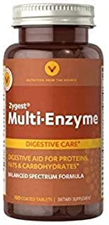 Vitamin World Multi-Enzyme Formula, Digestive Aid for Proteins, Fats & Carbohydrates, 100 Coated Tablets