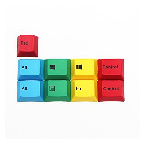 YAOSHI Set di copritasti 9 Llaves/Set PBT Dye SUBLIMACIÓN KEYCAPS Teclado mecánico Perfil Key Caps Sostituzione e aggiornamento dei tasti (Color : Mac)
