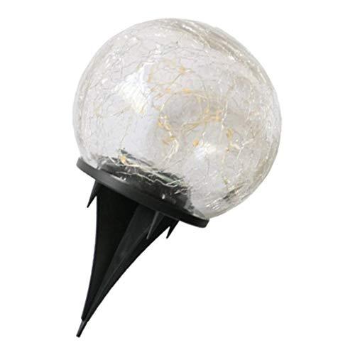B Blesiya Solarkugel Kugelleuchte Solarlampe mit Erdspieß Gartenlampe Kugelleuchte Dekoration - 10cm