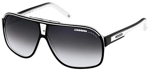 Carrera Grand Prix 2 9O T4M Gafas de sol, Negro (Black White/Grey Gradient), 64 Unisex Adulto