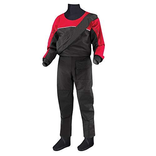 Junior Kinder Jugend Junior Rookie Trockenanzug wasserdichte Drysuits Frontreißverschluss Neopren-Anzug for Segeln Kajak Wassersport Abenteuer Kansa (Color : Black, Size : M)