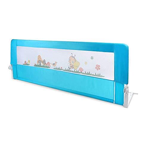 Barandillas De La Cama Barra De Cama Para Niños 180cm Azul Barrera Seguridad Para Cama Infantil Barra De Cama Plegable Barra De Cama Para Niños Ajuste Elevación Vertical Barandillas La Cama Infantil